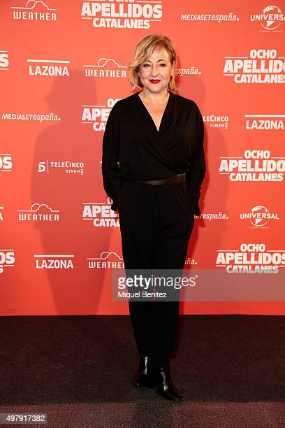 Carmen Machi attends 'Ocho Apellidos Catalanes' at Bosque Cinema on November 19 2015 in Barcelona Spain