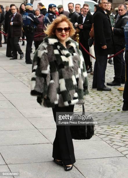 Carmen Machi attends the event where Pedro Almodovar and Raphael are declared Adoptive Son of Madrid at Casa de la Villa on April 11 2018 in Madrid...