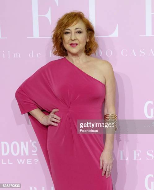 Carmen Machi attends the 'Pieles' premiere pink carpet at Capitol cinema on June 7 2017 in Madrid Spain