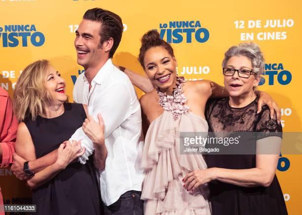 Carmen Machi Jon Kortajarena Montse Pla and Kiti Manver attend Lo Nunca Visto premiere at Palacio de la Prensa on July 09 2019 in Madrid Spain