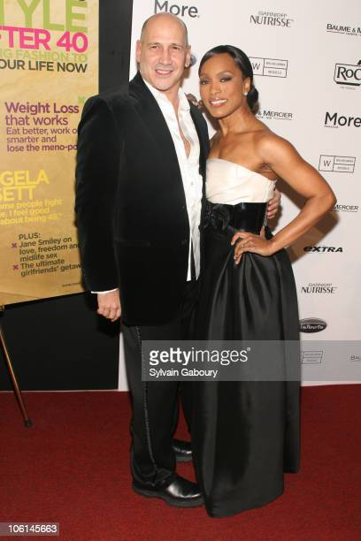 Carmen Marc Valvo and Angela Bassett during 7th Annual More Magazine Wilhelmina 40 Model Search Finals at Cipriani at 110 East 42nd Street in New...