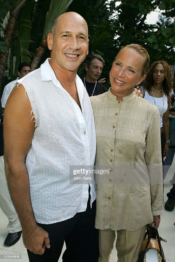 Carmen Marc Valvo and Lenny Niemeyer during Sunglass Hut Swim Shows Miami Presented by LYCRA - Welcome Reception at Raleigh Hotel in Miami Beach, Florida, United States.