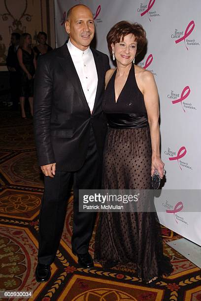 Carmen Marc Valvo and Myra J Biblowit attend The Breast Cancer Research Foundation Presents 'The Very Hot Pink Party' at The Waldorf Astoria on April...