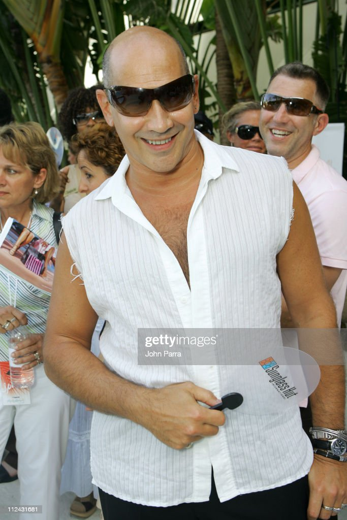 Carmen Marc Valvo in Prada sunglasses during Sunglass Hut Swim Shows Miami Presented by LYCRA - Welcome Reception at Raleigh Hotel in Miami Beach, Florida, United States.
