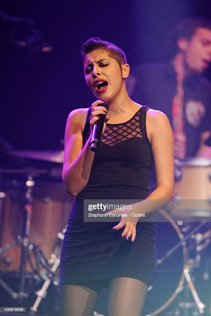 Carmen Maria Vega performs live during the celebration of Prix Constantin 2010 at L'Olympia, in Paris