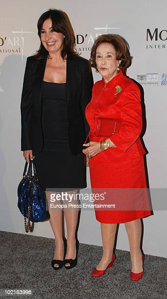 Carmen Martinez Bordiu and Carmen Franco attend Mod's Art Paris Exhibition at French Ambassador's residence on June 16 2010 in Madrid Spain
