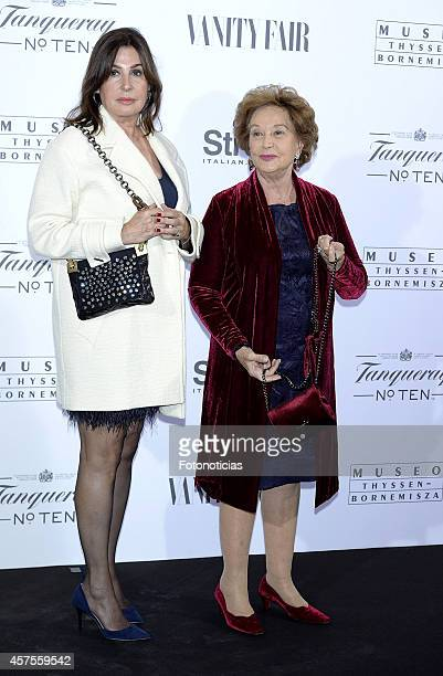 Carmen Martinez Bordiu and Carmen Franco attend the 'Hubert de Givenchy' exhibition opening cocktail at the ThyssenBornemisza Museum on October 20...
