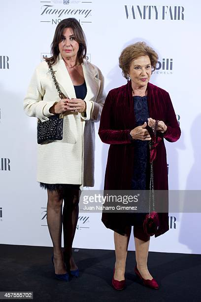 Carmen Martinez Bordiu and Carmen Franco attend Vanity Fair cocktail party at Museum Thyssen on October 20 2014 in Madrid Spain