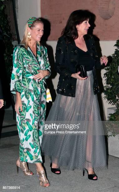 Carmen Martinez Bordiu and Fiona Ferrer attend the Jorge Vazquez night party during the MercedesBenz Fashion Week Madrid Spring/Summer 2018 at AC...