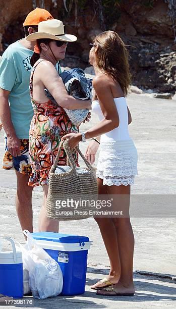 Carmen Martinez Bordiu and her daughter Cynthia Rossi are seen on July 26 2013 in Palma de Mallorca Spain