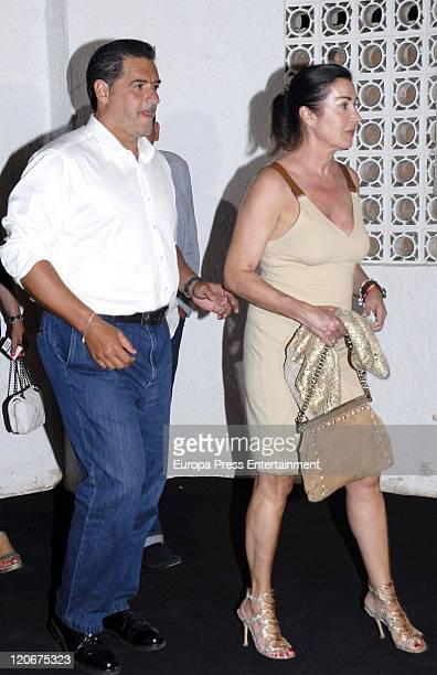 Carmen Martinez Bordiu and her husband Jose Campos attend the Candiles Bullfight at the Plaza Marbella Bullfight on August 05 2011 in Marbella Spain