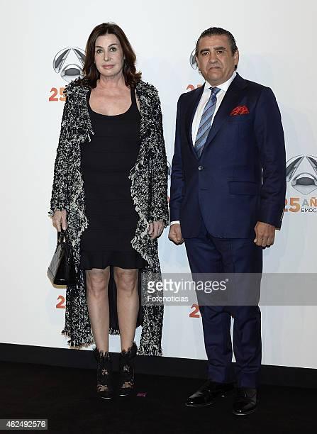 Carmen Martinez Bordiu and Jaime Martinez Bordiu attend 'Antena 3' 25th Anniversary Reception at the Palacio de Cibeles on January 29 2015 in Madrid...