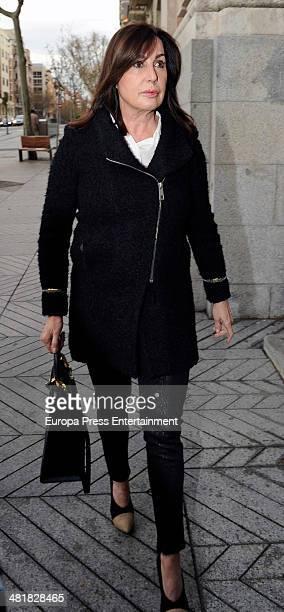 Carmen Martinez Bordiu attends the funeral for the Countess of Ripalda and mother of Jaime de Marichalar Concepcion Saenz de Tejada at San Francisco...