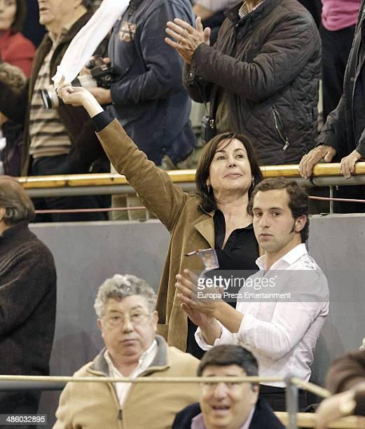 Carmen Martinez Bordiu attends the homage to Vicente Yanguez El Chano at Vista Alegre bullring on March 22 2014 in Madrid Spain The bullfighter was...