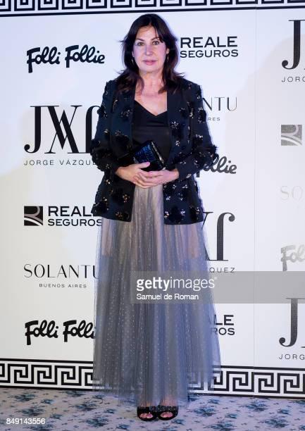 Carmen Martinez Bordiu attends the Jorge Vazquez show during the MercedesBenz Fashion Week Madrid Spring/Summer 2018 at AC Santo Mauro Hotel on...