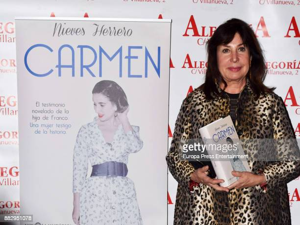 Carmen Martinez Bordiu attends the presentation of the book 'Carmen' by Nieves Herrero the biography of the dictator Francisco Franco's daughter...