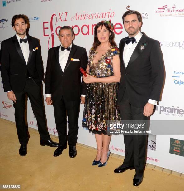 Carmen Martinez Bordiu, Jaime Martinez Bordiu and Daniel Martinez Bordiu attend 2017 Escaparate Awards In Seville At Duenas Palace on October 27,...