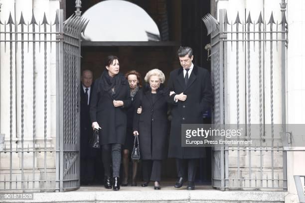 Carmen MartinezBordiu attends the funeral service for Carmen Franco daughter of the dictator Francisco Franco at La Almudena cathedral on December 31...