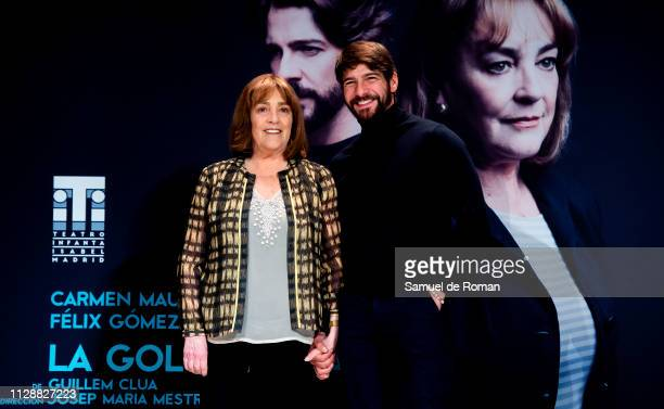 Carmen Maura and Felix Gomez attend La Golondrina' Madrid Photocall on March 6 2019 in Madrid Spain