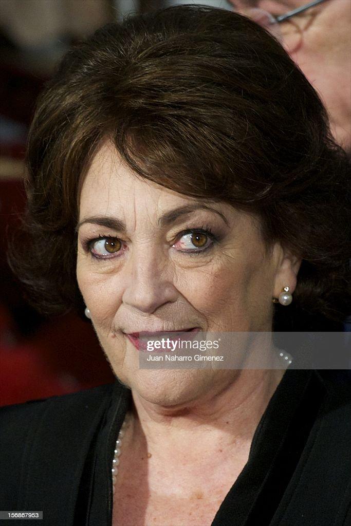 Carmen Maura attends 'Las Brujas de Zugarramurdi' on set filming at Palacio del Infante Don Luis on November 23, 2012 in Madrid, Spain.