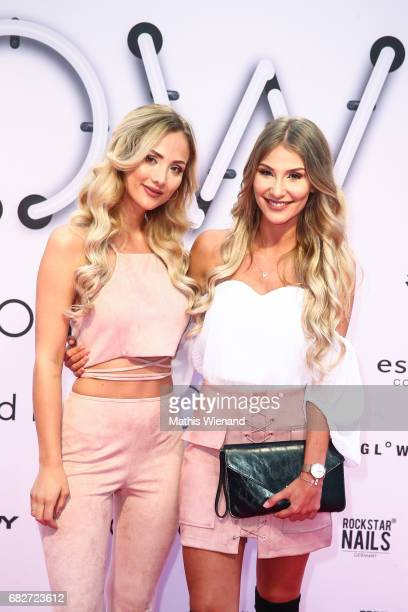 Carmen Mercedes and Anna Jonson attend the GLOW The Beauty Convention on May 13 2017 in Duesseldorf Germany