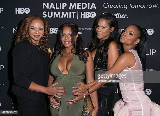 Carmen Milian, Danielle Milian, Liz Milian and Christina Milian attend the NALIP 16th Annual Latino Media Awards at W Hollywood on June 27, 2015 in...