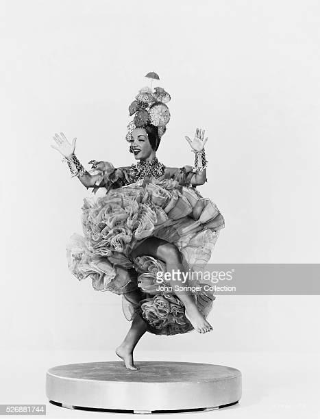 Carmen Miranda Dancing in Costume