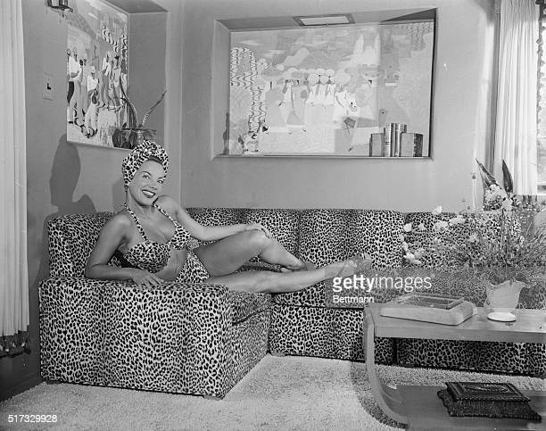 Carmen Miranda was so delighted with her new leopard skin bathing suit that she had the den in her Hollywood home decorated to match it However it's...