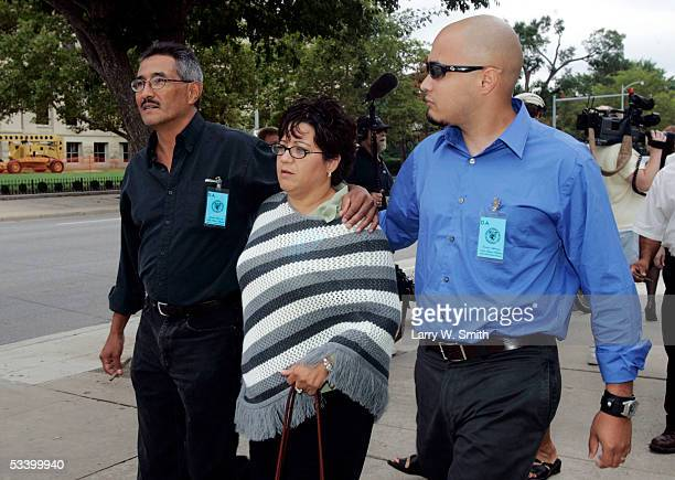 Carmen Montoya walks outside the Sedgwick County Courthouse during a break in the first day of sentencing for Dennis L Rader the admitted BTK serial...
