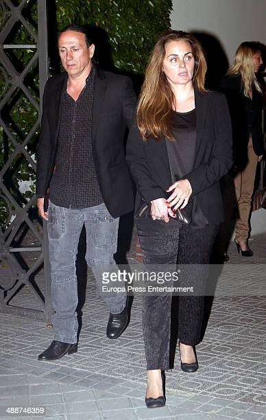 Carmen Morales and Luis Guerra attend the funeral for Antonio Morales widower of Rocio Durcal at Sagrado Corazon church on May 7 2014 in Madrid Spain