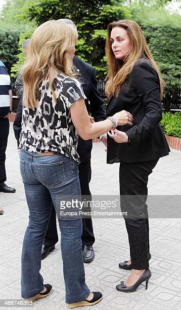 Carmen Morales attends the funeral for Antonio Morales widower of Rocio Durcal at Sagrado Corazon church on May 7 2014 in Madrid Spain