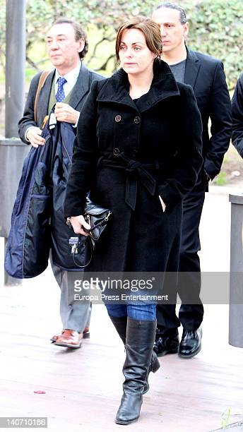 Carmen Morales attends the funeral for Carmen Barretto Valdes who died at 97 years old at La Almudena Graveyard on March 4 2012 in Madrid Spain...