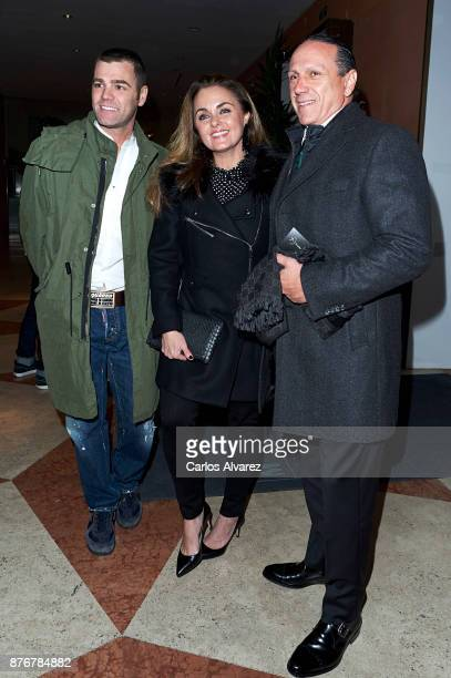 Carmen Morales her husband Luis Guerra and Fonsi Nieto attend the 'Smylife Collection Beauty Art III' presentation at the ThyssenBornemisza Museum on...