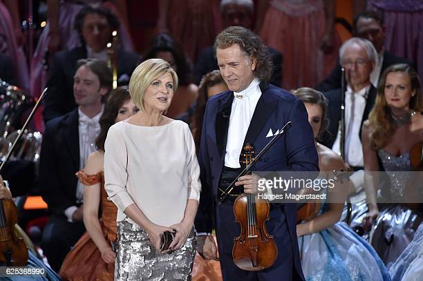 Carmen Nebel and Andre Rieu during the tv show 'Heiligabend mit Carmen Nebel' on November 23 2016 in Munich Germany The show will air on December 24...