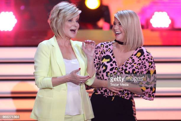 Carmen Nebel and Beatrice Egli during the tv show 'Willkommen bei Carmen Nebel' at SachsenArena on May 5 2018 in Riesa Germany