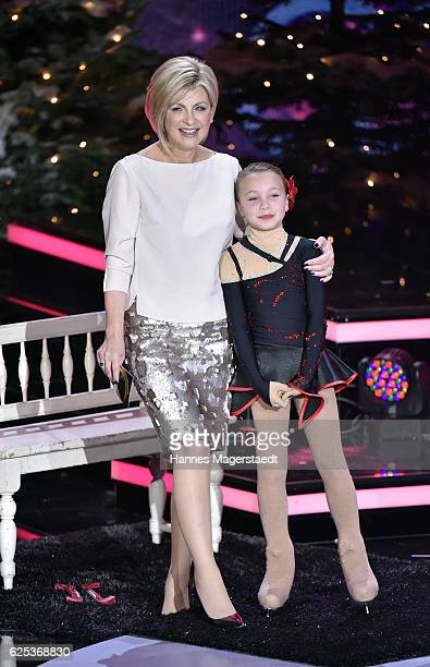 Carmen Nebel and Luana during the tv show 'Heiligabend mit Carmen Nebel' on November 23 2016 in Munich Germany The show will air on December 24 2016
