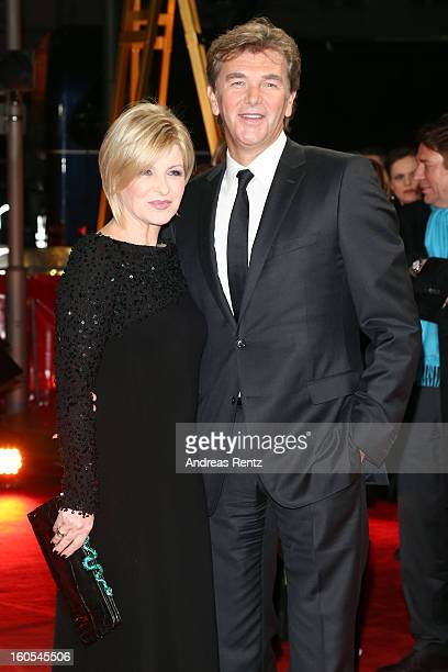 Carmen Nebel and Norbert Endlich attend 'Goldene Kamera 2013' at Axel Springer Haus on February 2 2013 in Berlin Germany