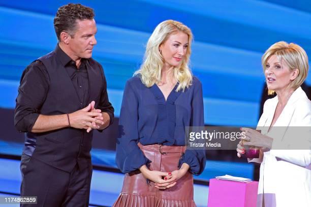 Carmen Nebel and Stefan Mross and his girlfriend AnnaCarina Woitschack at the charity gala Willkommen bei Carmen Nebel at TUI Arena on September 14...