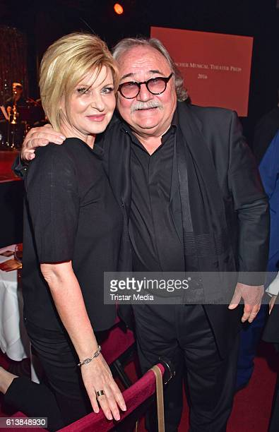 Carmen Nebel and Sylvester Levay attend the Deutscher Musical Theater Preis 2016 on October 11 2016 in Berlin Germany