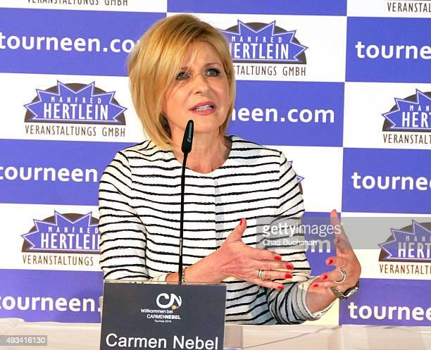 Carmen Nebel at the 'Willkommen bei Carmen Nebel' Tour Press Conference on October 20 2015 in Berlin Germany