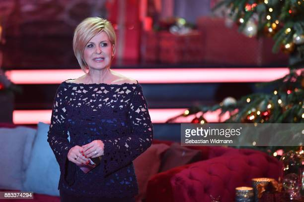 Carmen Nebel gestures during the tv show 'Heiligabend mit Carmen Nebel' on November 29 2017 in Munich Germany The show will be aired on December 24...