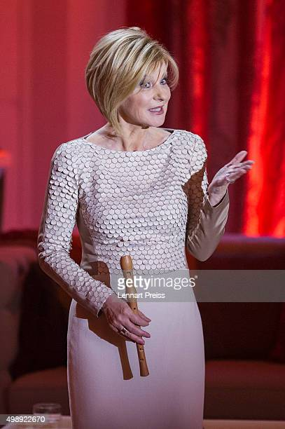 Carmen Nebel presents the 'Heiligabend mit Carmen Nebel' TV show at Bavaria Filmstudios on November 26 2015 in Munich Germany