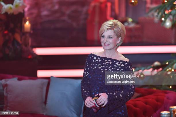 Carmen Nebel smiles during the tv show 'Heiligabend mit Carmen Nebel' on November 29 2017 in Munich Germany The show will be aired on December 24 2017