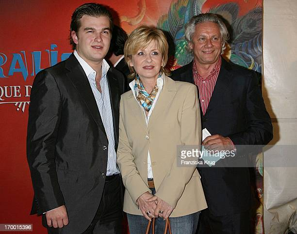 Carmen Nebel son Gregor Nebel And friend Klaas Bauer at The Dralion premiere from Cirque Du Soleil in Berlin 300806