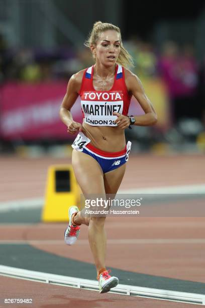 Carmen Patricia Martinez of Paraguay in action in the Womens 10000 metres final during day two of the 16th IAAF World Athletics Championships London...
