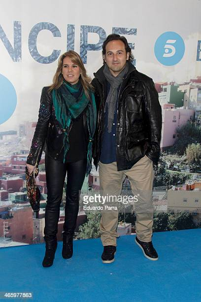 Carmen Porter and Iker Jimenez attend 'El principe' premiere at Callao cinema on January 30 2014 in Madrid Spain