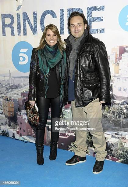 Carmen Porter and Iker Jimenez attend 'El principe' premiere at Callao cinema