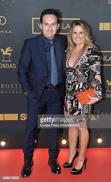 Carmen Porter and Iker Jimenez attend Onda Awards 2015 gala on November 24 2015 in Barcelona Spain