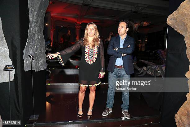 Carmen Porter and Iker Jimenez attend the Cuarto Milenio The Exhibiton at Coliseum theater in Barcelona on September 17 2015 in Barcelona Spain