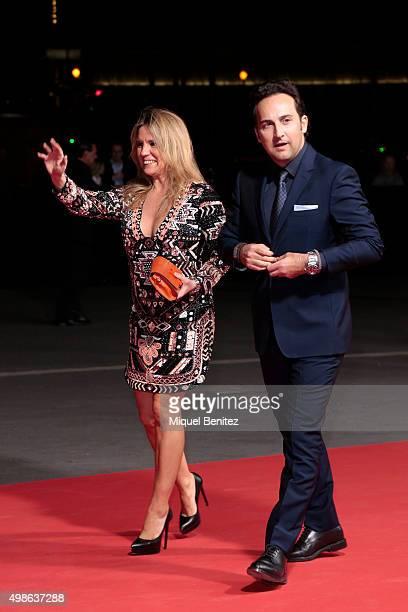 Carmen Porter and Iker Jimenez pose during a photocall the 62st Ondas Awards 2015 at CCIB Cente Convencions Internacional Barcelona on November 24...